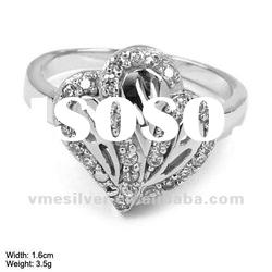 925 Silver Ring with CZ Stones [RZH-1084], Sterling Silver Ring with cz Stones, Flower Ring