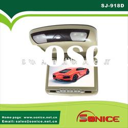 9 inch tft lcd car flip down DVD player with games,USB,SD,IR
