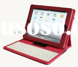 ABS bluetooth keyboard with leather case cover for ipad 2