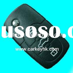 Audi car flip remote key blank 3 button 2032 battery key case shell