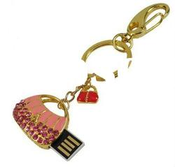 Crystal Handbag Design USB Flash Drive with Keychain/USB Hard Disk