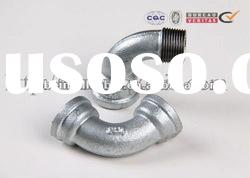 F&M long elbow bend cast iron pipe fitting galvanized
