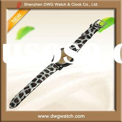 Fashion All Type of Wrist Watch with Leopard Leather Strap