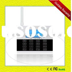 GS-G80DE New GSM alarm system quand band GSM frequency support 2/4 Band GSM/PSTN dual net-work
