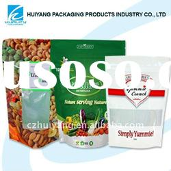Hot!!Laminated plastic stand up zipper food packaging bag with window