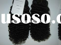 Hot sale Brazilian 16'' kinky curl hair weaving