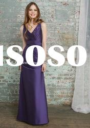 KW9584 spaghetti straps purple evening gown dresses