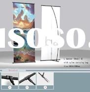 L Banner, Banner stand, display banner, outdoor banner, advertising stand, floor stand banner