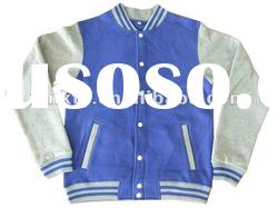 Men Cotton Poly Blended Varsity Jacket