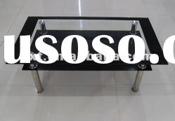 Modern Tempered Glass stainless steel Coffee Table design