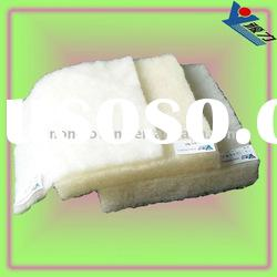 Nonwoven fabric polyester/wool wadding for bedding and clothing filling