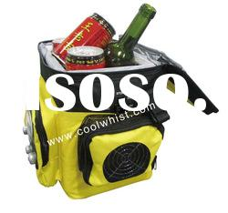 Nylon soft bag cooler with radio for outdoor trip promotion