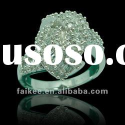 Pretty 925 Silver Rings,zircon rings,wholesale gemstone ring