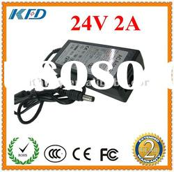 Shenzhen Factory Supply 24V2A AC Adapter 48W Power Supply Desktop