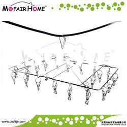 Stainless steel foldable hanging drying rack