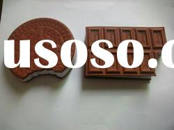 Sticker biscuit shaped sticky note pad /notepad/note book for promotion