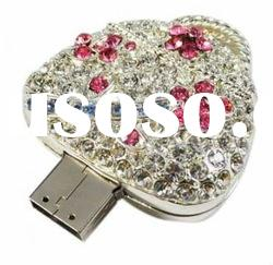 Stylish Crystal Handbag Design USB Flash Drive with Keychain/USB Hard Disk