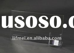 Unique Clear Acrylic Vertical Sign Holder, Single Pocket Brochure/Sign Holder ,Welcome ODM/OEM