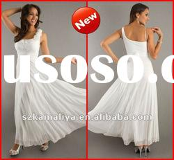 Unique Custom Made Boutique One Shoulder Newest Chiffon Outstanding Long Prom Dresses 2012