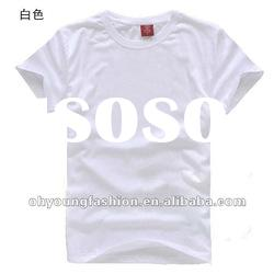 fashion design men's cotton white blank short sleeve v neck t shirt