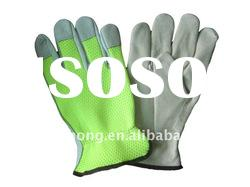 grain cow leather driving gloves for heavy duty work
