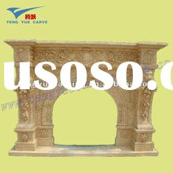 natural stone decoration fireplace mantel