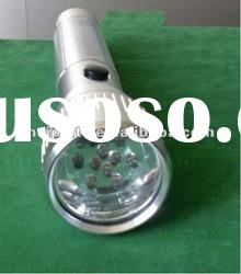 solar emergency torch lighting with 10 bright leds