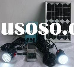 solar lighting(light 2 lamps and with USB charge mobile)