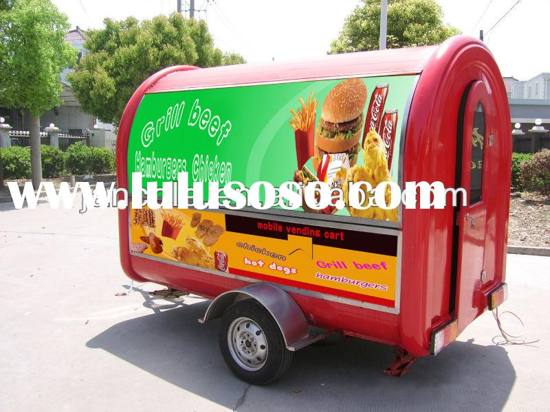 2013 new style JC-3300 kitchen equipments and their uses/food vending cart for sales/food kiosk cart