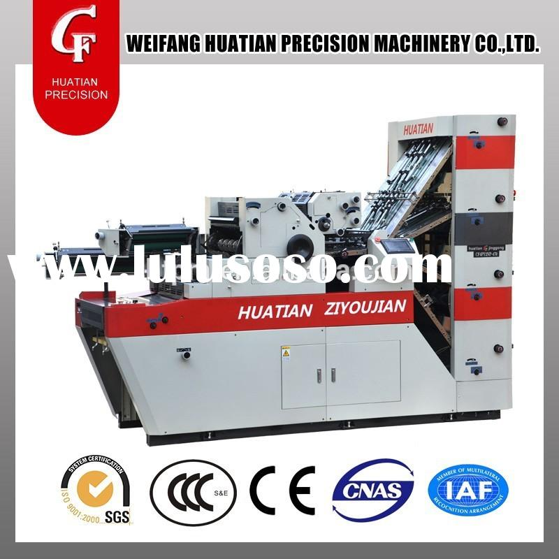 4 collating system, 2 numbering&2 printing systems, Best quality of mini offset printing machine
