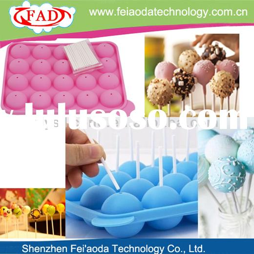 Hot Selling Colorful Silicone Food Grade Kitchen Utensils With 20 Free Lolly Sticks