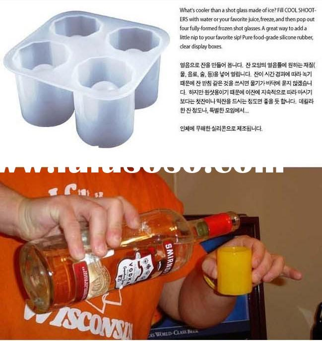 Ice shots Cube Tray Silicone mold tool cup Shape Bar Kitchen and cooking tools Party Drink / coke ca