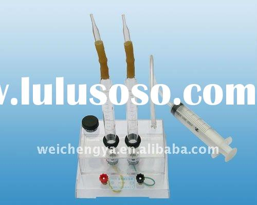 experimental apparatus for water electrolysis (chemistry lab apparatus)