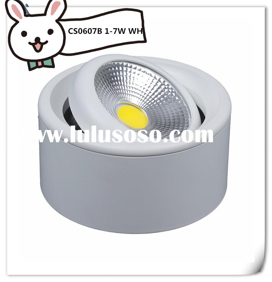 surface mounted led canopy light 2014 new round COB light with 2 years warranty , 90~100lm/w