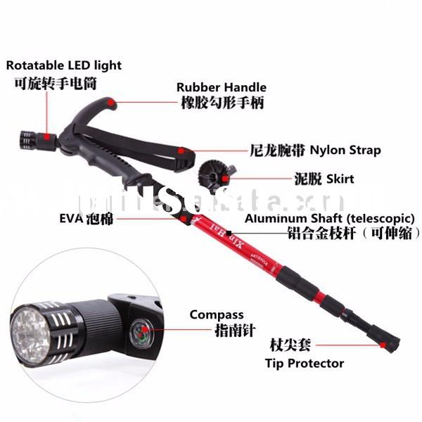 2015 new style walking stick with light and alarm, walking sticks wholesale