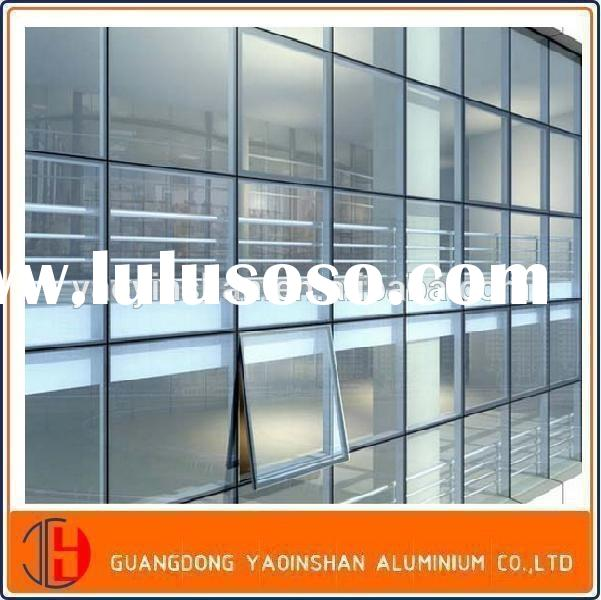 Aluminium Curtain Wall profile,aluminium glass frameless curtain wall profile,aluminium facade syste