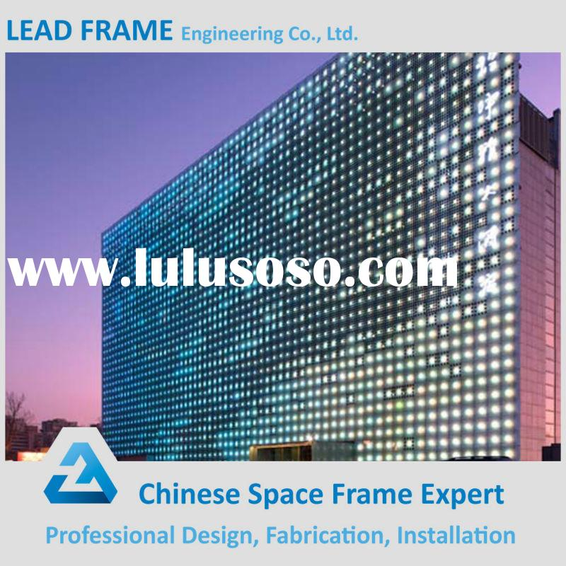Cheap Facade System Tempered Clear Frameless Glass Curtain Wall
