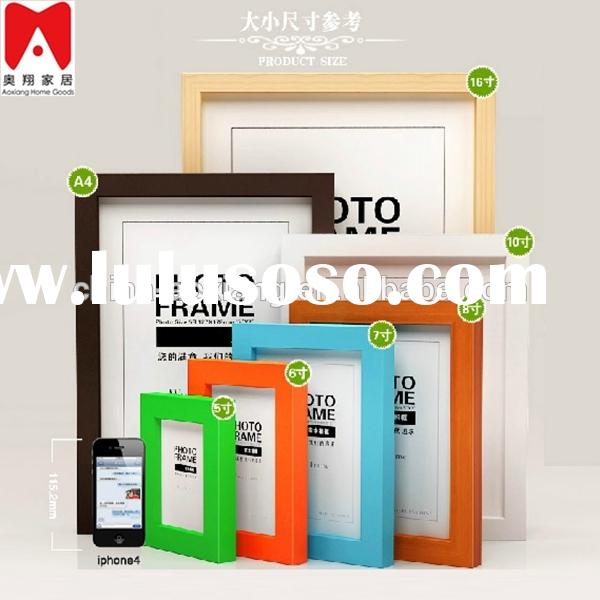 Colourful Plastic Picture Frame 4x6 5x7 6x8 8x10 3x3 unfinished wood picture frames wholesale