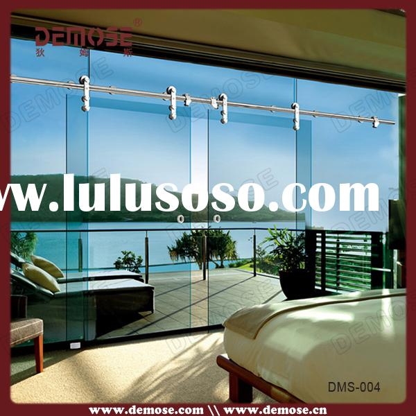 Frameless folding glass doors frameless folding glass for Thickness of glass wall for exterior