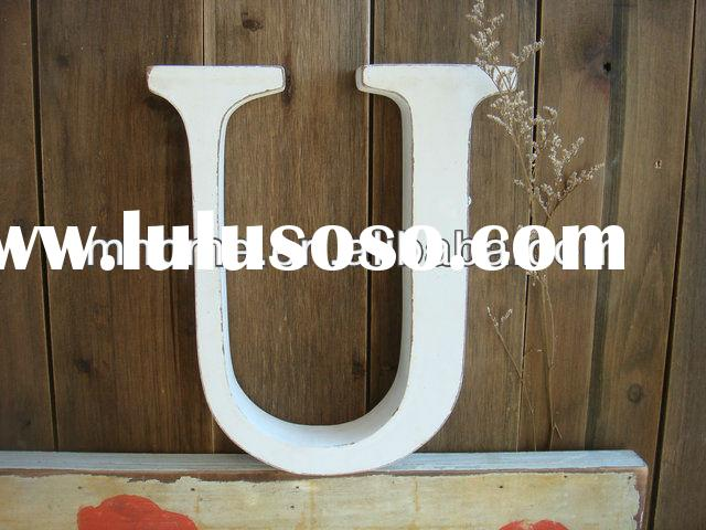 Creative antique Shabby Chic wooden wall alphabet letters for home decoration