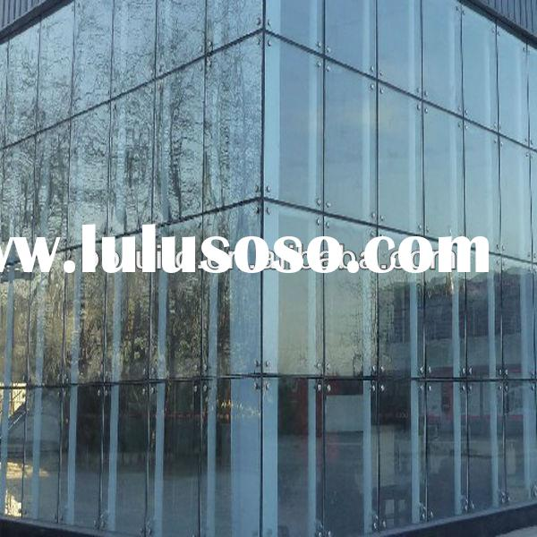 Facade frameless glass curtain wall