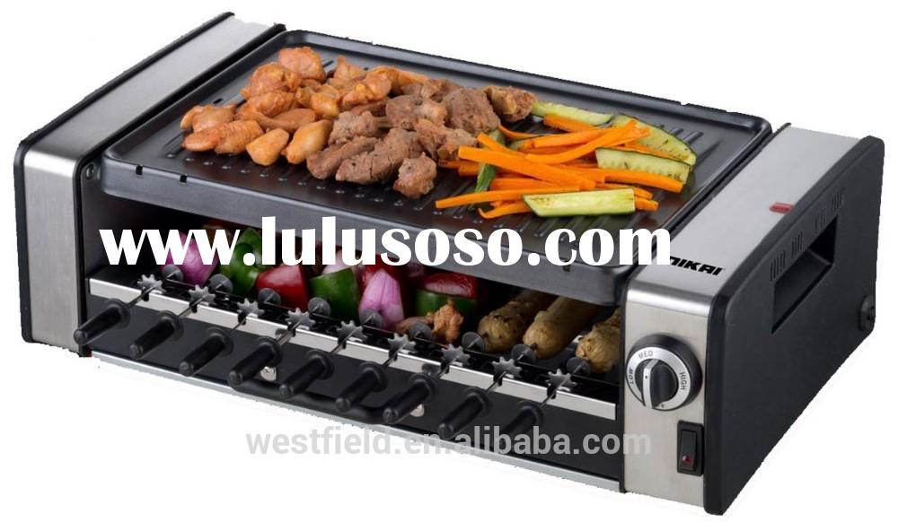 Factory kitchen accessories ABS Indoor Electric Barbecue Grills&mini portable bbq grill