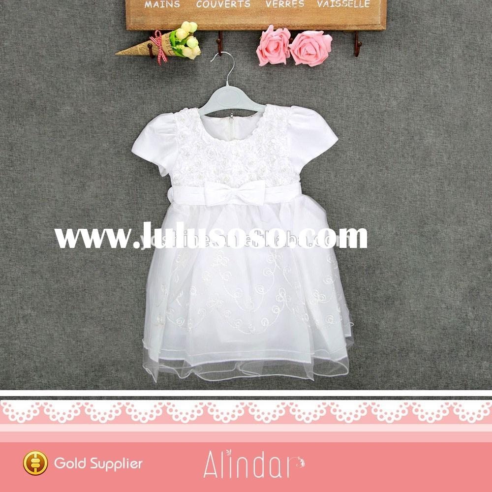 Fancy Frock Design For Baby Girl White Wedding Dress 2 Year Old Flower Girls Tulle Dresses Mini Ball