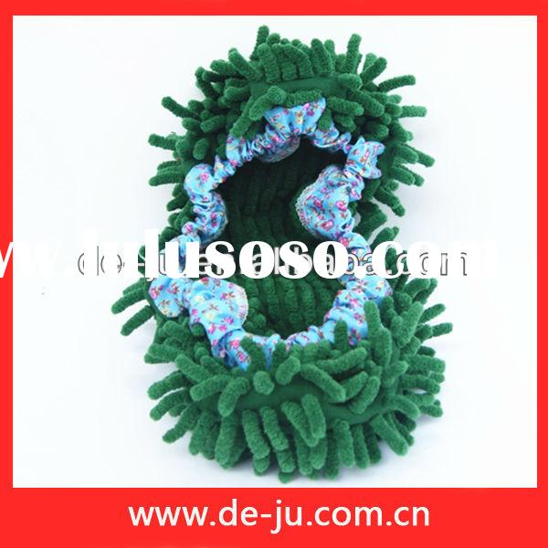 Household Cleaning Green Chenille Shoes Cover Cheap Microfiber Chenille