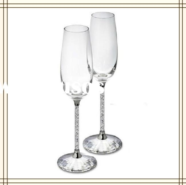 New Arrival Crystal Couple Champagne Glass For Wedding Favor