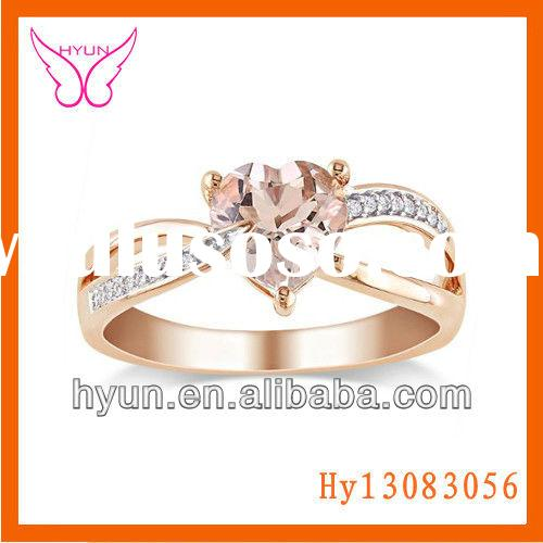 Rose Gold Heart Shape Engagement Ring Pink Sapphire Ring Engagement Gold Ring