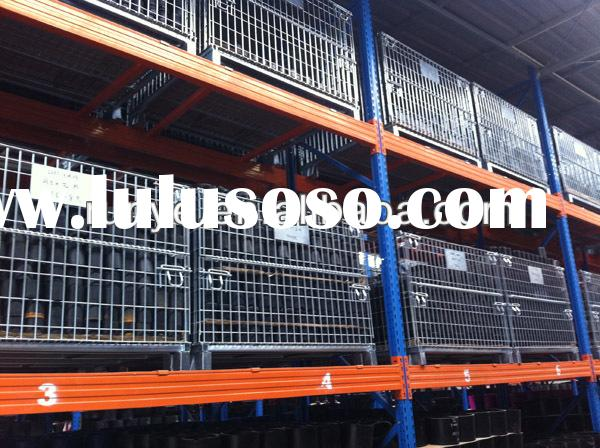Stacking storage cage container/rolling warehouse/wooden replaced