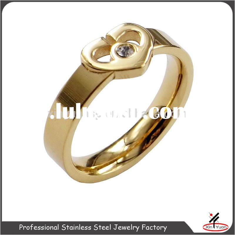 attactive heart shape gold engagement rings cheap 22k gold engagement ring