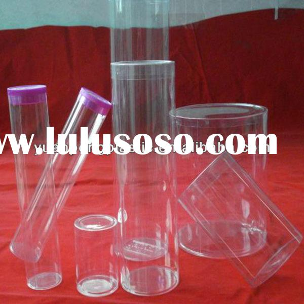 clear plastic tube end cap, clear pvc tube cylinders