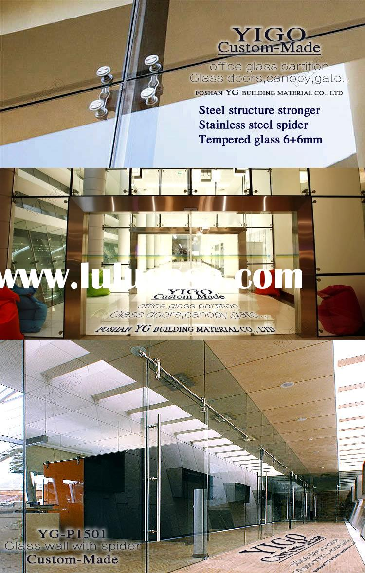 frameless glass wall system / frosted glass walls / glass wall solutions